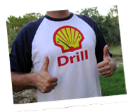 Shell drilling on empty t shirt